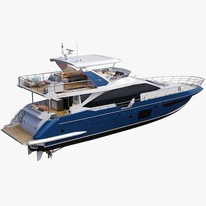 3D Azimut 72 Flybridge Yacht