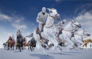 3D model Horse Animset