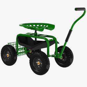 garden cart seat 3D model