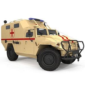 3D Ambulance Vehicle