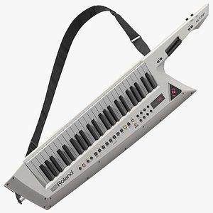 3D White Keytar Roland AX Edge