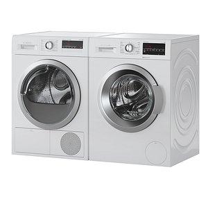 3D model washer dryer serie