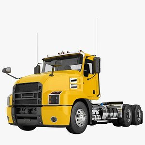 semi truck day 3D model