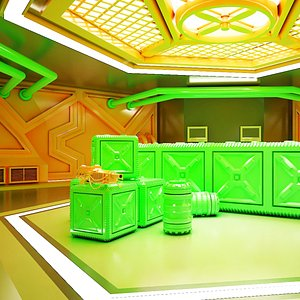 Sci-fi Corridor 02 HI-RES 3D model