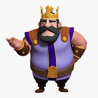 Rigged Cartoon King