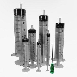 3D syringe medicine science