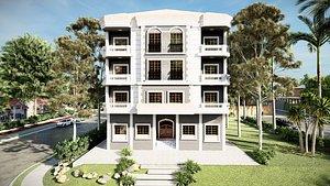 3D model neoclassic elevation