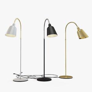 Bellevue AJ7 Lamps by Arne Jacobsen White-Gold,  Black-Chrome, Gold 3D model