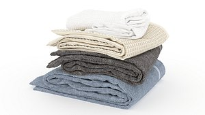 stacked towels 3D