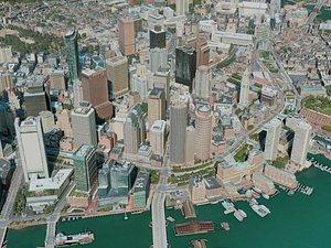 3D model boston city