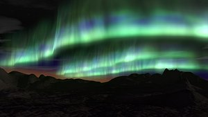 3D Aurora Borealis Animated