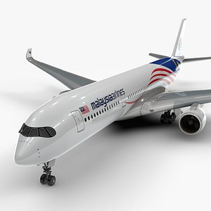 a350-900 malaysia airlines l1149 3D model