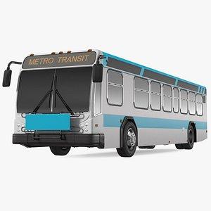 3D Metro Transit Bus Exterior Only