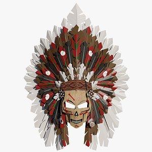 Ethnic mask 3D model