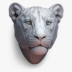 3D lion lioness stylized