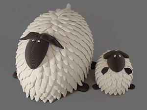 3D model toy soft sheep