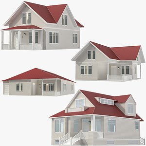 3D Family Houses Collection 02