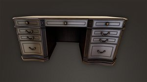 3D model vintage table