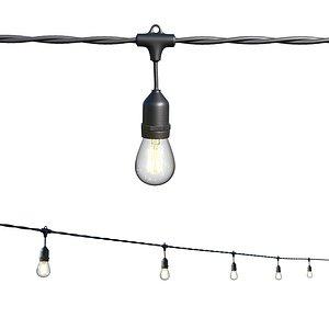 3D garland lamp street