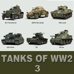 tanks ww2 3d model