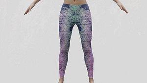 3D model Yoga pants leggings