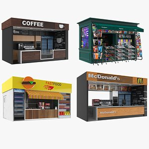Commercial Kiosks Collection model