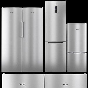 3D Refrigerator set Atlant 3