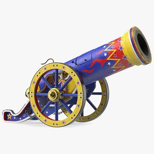 Vintage Circus Cannon 3D model