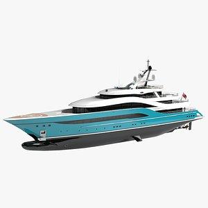 Turquoise Go luxury Yacht Dynamic Simulation 3D model