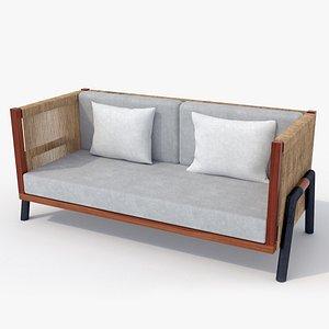 3D model Tropical Rattan Chair