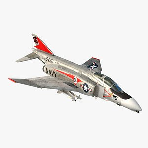 3D model F4 B Phantom II VF-14 Tophatters
