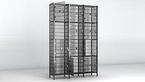 3D luggage storage model