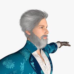 man beard 3D model