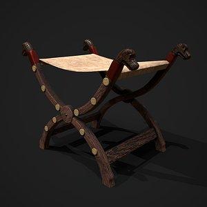 3D Viking Stool model