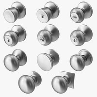 Door Knob Steel Set Collection V01