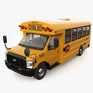 Ford E-Series School bus Type A 3D model