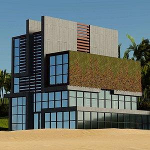 Modern Building 16 model