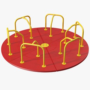 3D Merry Go Round 10 Foot Red