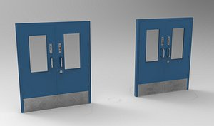 Pharma Door Animated 3D model