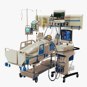 icu patient 3D model
