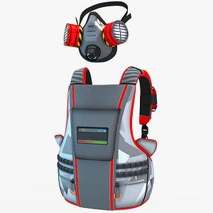 3D backpack mask
