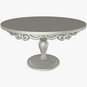 classic wooden table 3D model