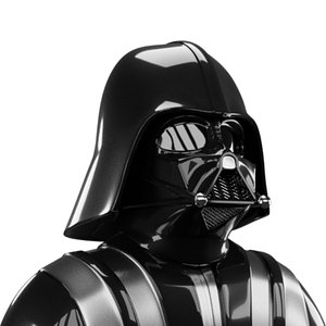 3D darth vader helmet shoulders model