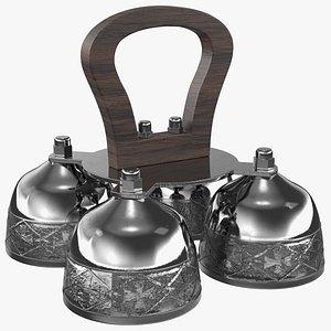 3D liturgical altar bell wood