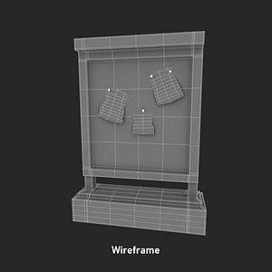 board information 3D model