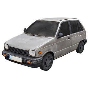 3D Old Abandoned Car Scan 5