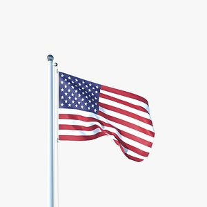 Animated Flag of United States 3D