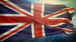 3D United Kingdom Flag model