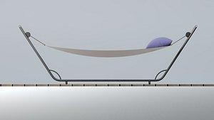 hammock bed 3D model