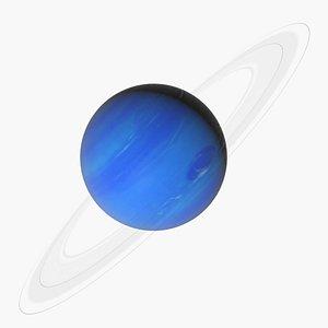 3D Photorealistic Neptune model